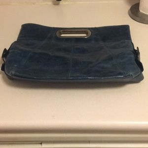 Kenneth Cole reaction navy oversized clutch